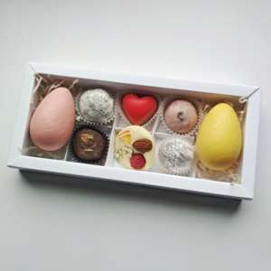 Пасхальный набор конфет с шоколадными яйцами