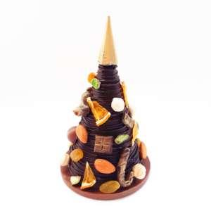 Шоколадная ёлка с фигурками